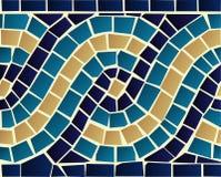 Teste padrão sem emenda do mosaico da onda Fotografia de Stock