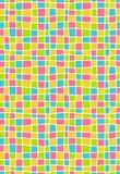 Teste padrão sem emenda do mosaico geométrico multicolorido brilhante ilustração stock