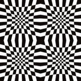 Teste padrão sem emenda do mosaico simples monocromático Imagem de Stock Royalty Free