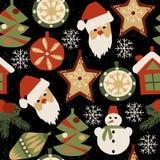 Teste padrão sem emenda 1 do Natal ilustração royalty free
