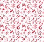 Teste padrão sem emenda do Natal ilustração stock