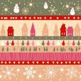Teste padrão sem emenda do Natal Fotografia de Stock