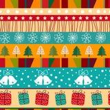 Teste padrão sem emenda do Natal. Imagens de Stock Royalty Free