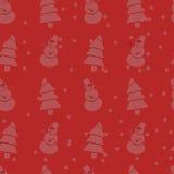 Teste padrão sem emenda do Natal Fotografia de Stock Royalty Free
