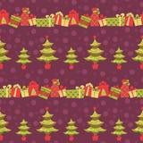 Teste padrão sem emenda do Natal Foto de Stock Royalty Free