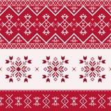 Teste padrão sem emenda do Natal, cópia com flocos de neve ilustração do vetor