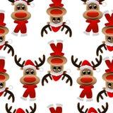 Teste padrão sem emenda do Natal com cervos ilustração do vetor