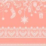Teste padrão sem emenda do Natal com decoração de suspensão brinquedos, presente, meia, floco de neve, pássaro e beira sem emenda Fotos de Stock Royalty Free