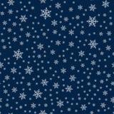 Teste padrão sem emenda do Natal com fundo abstrato dos flocos de neve O projeto do feriado para a forma do Natal e do ano novo i ilustração stock