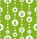 Teste padrão sem emenda do Natal com tradicional ilustração do vetor
