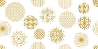 Teste padrão sem emenda do Natal criativo com motivos geométricos ilustração royalty free