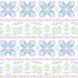 Teste padrão sem emenda do Natal Cruz-costurado Imagens de Stock Royalty Free