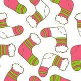 Teste padrão sem emenda do Natal do vetor ilustração do vetor
