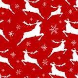 Teste padrão sem emenda do Natal do vintage com renas e alces ilustração stock