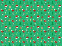 Teste padrão sem emenda do Natal e do ano novo Vetor fotos de stock