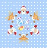 Teste padrão sem emenda do Natal e do ano novo Fotos de Stock