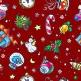 Teste padrão sem emenda do Natal e do ano novo Imagem de Stock Royalty Free