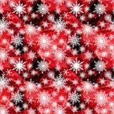 Teste padrão sem emenda do Natal Flocos de neve brancos Fotos de Stock Royalty Free
