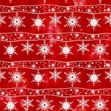 Teste padrão sem emenda do Natal Flocos de neve brancos Foto de Stock Royalty Free