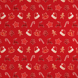 Teste padrão sem emenda do Natal vermelho Imagens de Stock Royalty Free