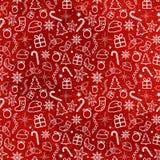 Teste padrão sem emenda do Natal vermelho Imagem de Stock
