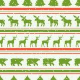 Teste padrão sem emenda do Natal Vetor Imagem de Stock