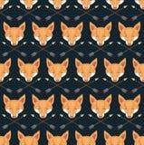 Teste padrão sem emenda do nativo americano com raposas e setas Imagens de Stock Royalty Free