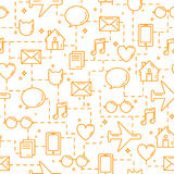 Teste padrão sem emenda do negócio comunicações ilustração stock