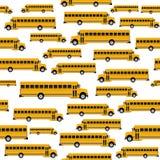 Teste padrão sem emenda do ônibus escolar Fotografia de Stock Royalty Free