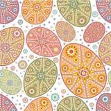 Teste padrão sem emenda do ornamental do ovo de easter Imagem de Stock Royalty Free