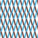 Teste padrão sem emenda do ornamento da viga Fundo azul e marrom colorido do ziguezague Foto de Stock