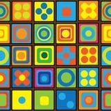 Teste padrão sem emenda do ornamento geométrico multicolorido Fotos de Stock Royalty Free
