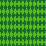 Teste padrão sem emenda do ornamento geométrico retro do verde do fundo do rombo para Patrick Day ilustração do vetor