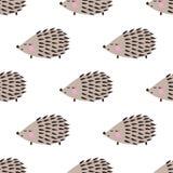 Teste padrão sem emenda do ouriço Fundo bonito do animal dos desenhos animados Fotografia de Stock Royalty Free