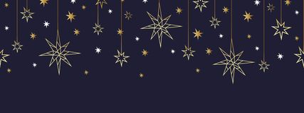 Teste padrão sem emenda do ouro do Natal e do ano novo feliz Imagem de Stock Royalty Free