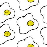 Teste padrão sem emenda do ovo ilustração stock