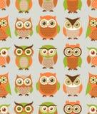 Teste padrão sem emenda do pássaro dos desenhos animados Fotos de Stock Royalty Free