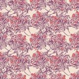 Teste padrão sem emenda do papel de parede com as tulipas no vaso Foto de Stock Royalty Free