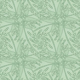 Teste padrão sem emenda do papel de parede com folhas estilizados Imagem de Stock Royalty Free