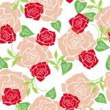 Teste padrão sem emenda do papel de parede das rosas Fotos de Stock Royalty Free