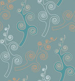 Teste padrão sem emenda do papel de parede de Swirly Foto de Stock