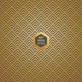 Teste padrão sem emenda do papel de parede do vintage de Art Deco Imagem de Stock