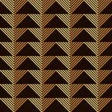 Teste padrão sem emenda do papel de parede do vintage de Art Deco Imagens de Stock