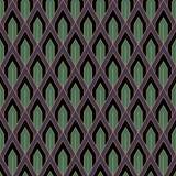 Teste padrão sem emenda do papel de parede do vintage de Art Deco Decorativ geométrico Foto de Stock Royalty Free