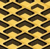 Teste padrão sem emenda do papel de parede do vintage de Art Deco Decorativ geométrico Foto de Stock