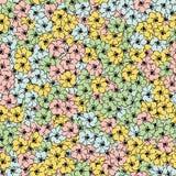 Teste padrão sem emenda do papel de parede multicolorido da flor ilustração royalty free