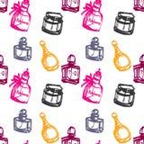 Teste padrão sem emenda do perfume Foto de Stock Royalty Free