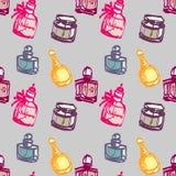 Teste padrão sem emenda do perfume Imagem de Stock Royalty Free