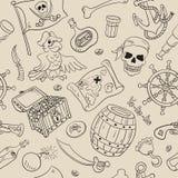 Teste padrão sem emenda do pirata Imagens de Stock Royalty Free