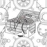 Teste padrão sem emenda do pirata ilustração royalty free